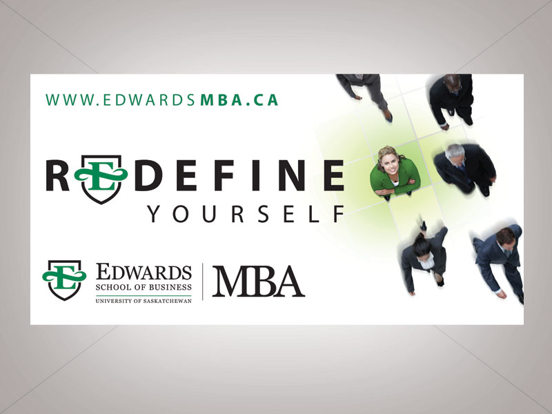 edwards school of business print ad redefine